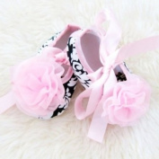 Toddler Infant Baby Girl Shoes Soft Soles Non-slip Pink Silk Ribbon Shoes