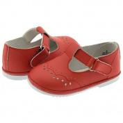 Baby Toddler Girls Red Eyelet Design Mary Jane Trendy Shoes Size 1-7
