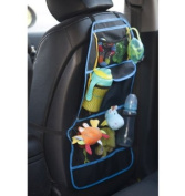 Mammoth XT Kids Car Back Seat Organiser - 3 Large Pockets + 2 Drink Holders