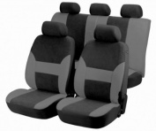 Walser AM12417 Top Universal Car Seat Cover Dubai Anthracite / Black