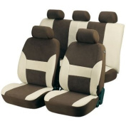 WALSER AM12416 TOP Dubai Universal Car Seat Covers Beige/ Brown