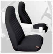 Bestop® Front Seat Covers - High Bucket - Jeep 92-94 Wrangler; Sold as pair; Fit factory seats