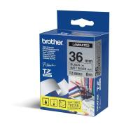 Brother TZE261 36MM GLOSS Black on White Tape