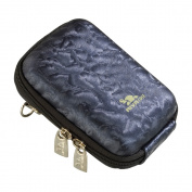 RIVACASE Riva 7023 PU Digital Camera Case, Dark Blue/Shiny Wave
