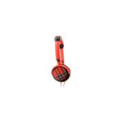 Urbanz Tartan Fashion Headphones - Red.