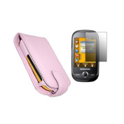 Pink Flip Case LCD Screen Protector Cleaning Cloth for Samsung S3650 Genio