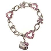 Hello Kitty Austrian Crystal Bracelet 22 cm