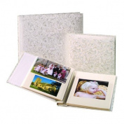 Kenro KD145 White Satin Traditional Album 60 pages Small White