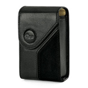 Lowepro Napoli 10 Black Leather and Suede Compact Camera Case Fits.