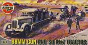 88mm Gun And SD KFZ7 Tractor - 1:76 Scale - A02003- Airfix