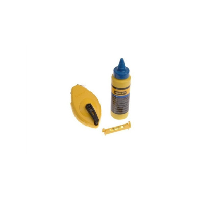 Stanley STA047443 Chalk Line Chalk and Level - 30m, Blue