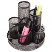 Osco Mesh Pencil Pot Scratch-resistant with Non-marking Base 5 Tube.