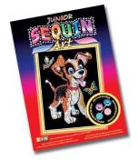 KSG Arts and Crafts Junior Sequin Art 0907 Puppy Picture Kit