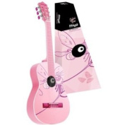 1/2 Size Classical Guitar With Dragonfly Graphic - Pink