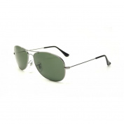 Ray-Ban Cockpit Sunglasses in Gunmetal with Crystal Green Lens