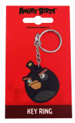 Black Angry Birds Keyring