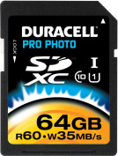 Duracell 64 GB. SDXC UHS-1 Class 10 Card