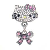 Hello Kitty Austrian Crystal Adjustable Ring