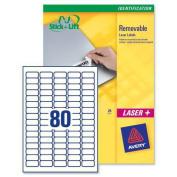 Avery Mini Labels Removable Laser 80 per Sheet 356x169mm White Ref L4732REV25 2000 Labels