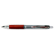 Uni-ball SigNo 207 Gel Rollerball Pen Retractable Fine 0.7mm Tip 0.5mm Line Red Ref 9004602 [Pack 12]