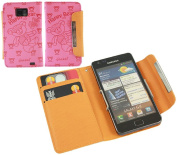 Pink Bear Wallet Case with Credit Card Holder for Samsung i9100 Galaxy S II S2