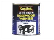 Rustins Quick Dry Coloured Varnish Satin Mahogany 500ml