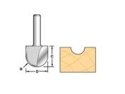 Trend 12/6 X 1/4 Tungsten Carbide Radius Cutter