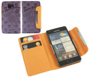 Purple Bear Wallet Case with Credit Card Holder for Samsung i9100 Galaxy S II S2