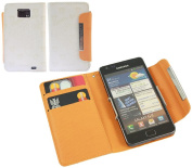 White Bear Wallet Case with Credit Card Holder for Samsung i9100 Galaxy S II S2