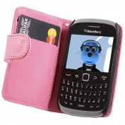 iTALKonline BlackBerry 9320 Curve Pink PU Leather Executive Multi-Function Wallet Case Cover Organiser Flip with Credit / Business Card Money Holder