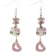 Hello Kitty Austrian Crystal Earrings