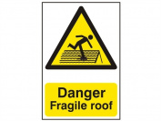 Scan 1104 Danger Fragile Roof Pvc 200 X 300mm