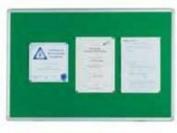 Q-Connect KF26064 Notice Board 1200x900mm Aluminium Frame - Green