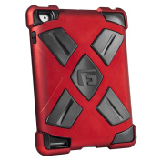 G-FORM Extreme iPad Clip On Case, Red Case/Black RPT