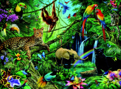 Animals In The Jungle XXL 200pc Jigsaw Puzzle - Ravensburger