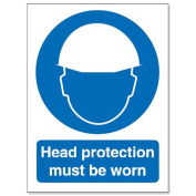 Stewart Superior Head Protection Must Be Worn Self Adhesive Sign