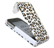Yellow Black Leopard FlipMatic Easy Clip On Vertical Pouch Case - Apple iPhone 4