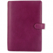 Filofax Finsbury Personal Organiser Leather Rambling Grain Personal Raspberry Ref 025305