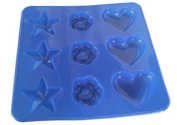 Mini Star/Heart/Rose Silicone Chocolate Mould FREE POSTAGE
