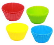 Silicon Cup CakeCases / Bases 12/Pack - Bright Colours
