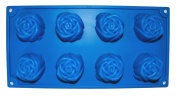 Silicone 8 Cup Rose Pan/Tray/Soap Mould-Sponge Cake Tin FREE POSTAGE