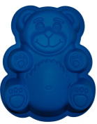 Large 28cm Silicone Teddy Bear Cake/Tin/Jelly Mould-Blue FREE POSTAGE