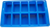 Silicone(10) Rectangles/Mini Loaf-Soap/Chocolate/Cake Bar Mould/Baking Tray, FREE POSTAGE