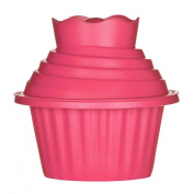 Allocation Giant Cupcake 3pc Set Made of Silicone Presented in Hot Pink Colour