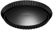 Dr. Oetker Tradition 28 cm Non-Stick Bakeware Flan Tin, Black