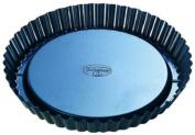 Dr. Oetker Tradition 22 cm Non-Stick Bakeware Flan Tin, Black