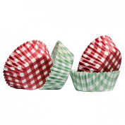 Percalle Gingham Design 60pcs Medium Cupcake Cases Made Of Greaseproof Paper & Attractive Look