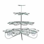 Premier Housewares 4-Tier Cupcake Stand, Chrome