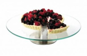 1 Tier Revolving Rotating Glass 30cm Cake Stand For Cake Art Decorating.