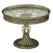 FILIGREE - Single Tier Victorian Round Cake Stand